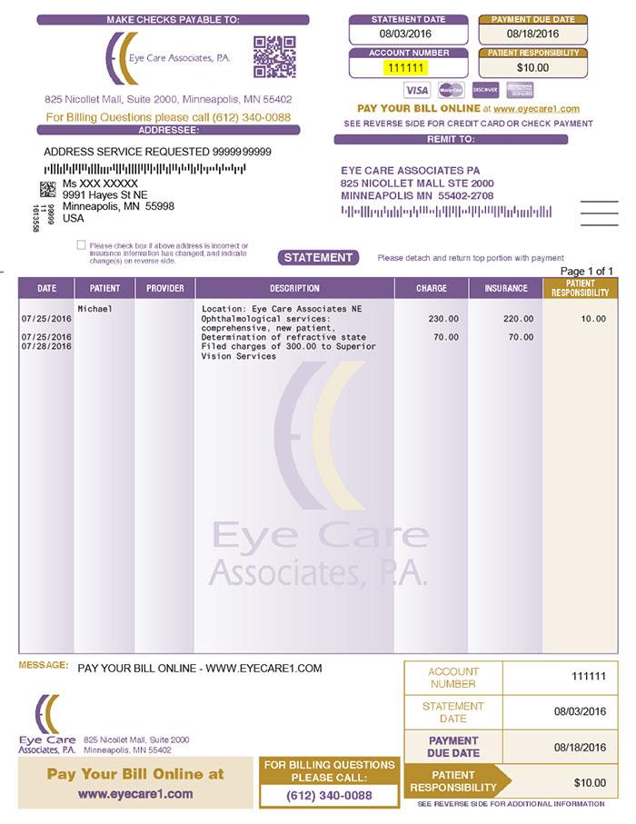 Pay Bill - Eye Care Associates